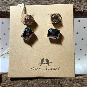 Chloe & Isabel Artisan stud duo set earrings new!